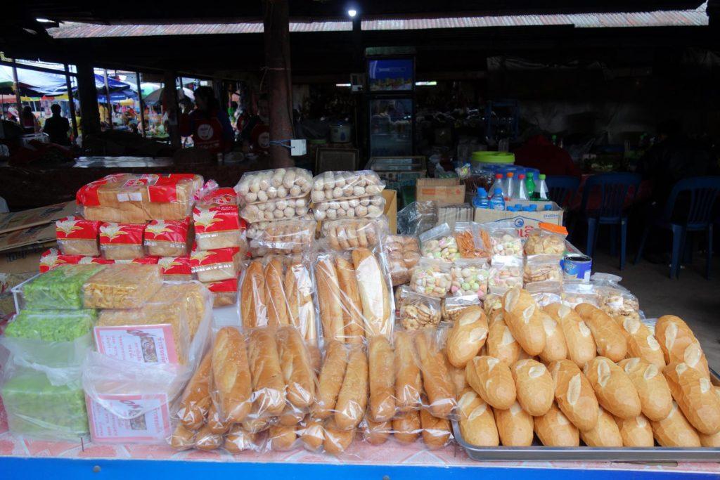 Pieczywo dostępne w Laosie