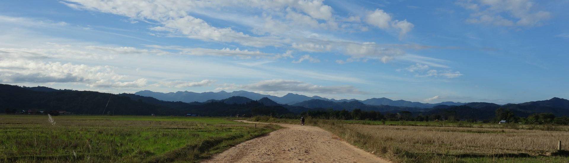 Piękny krajobraz w Laosie