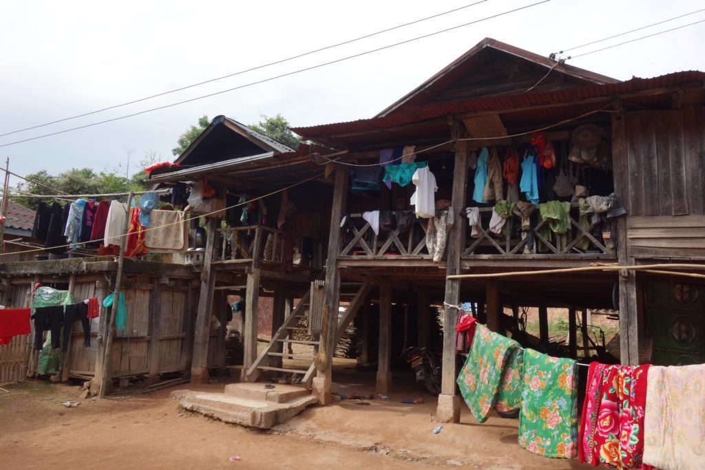 Wioska Akha niedaleko Muang Sing