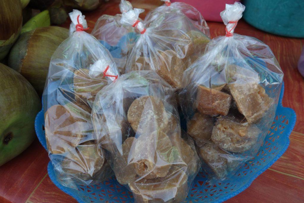 cukierki z palmy cukrowej Laos Don Khong
