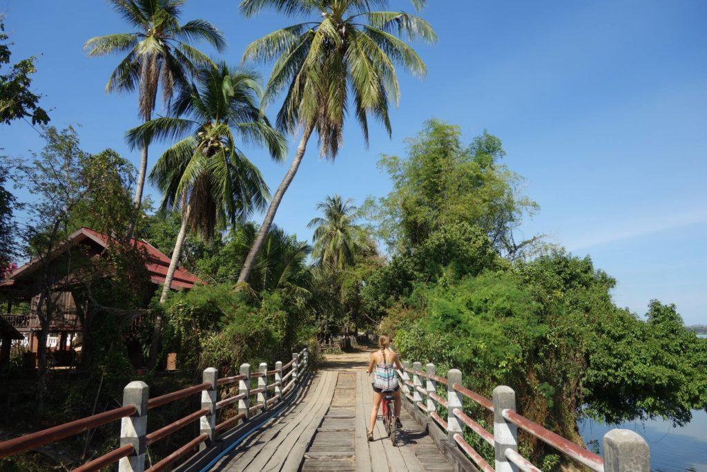 rowerem po wyspie Don Khong