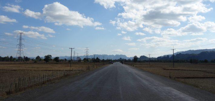 Krajobraz z pętli Thakhek Loop